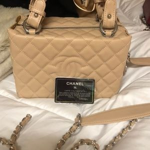 Authentic Chanel Cream Lambskin NEW bag